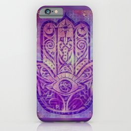 Namaste Purple Zen Art iPhone Case