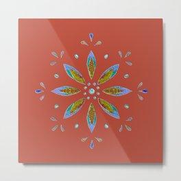 Flower Jewel Metal Print