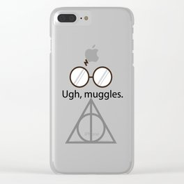 Ugh, muggles. Clear iPhone Case