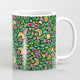 Green, Pink, Yellow Coffee Mug