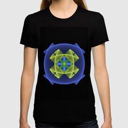 3D Graphic, Colorful Luminous Fractal Art T-shirt
