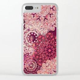 Terra Rose Mandalas Clear iPhone Case
