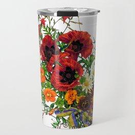 Fancy Poppies  Travel Mug