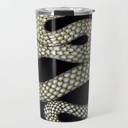 Snake's Charm in Black Travel Mug