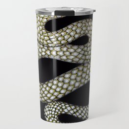 Snake's Charm in Black Travel Mug