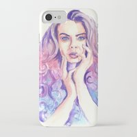 cara delevingne iPhone & iPod Cases featuring Cara Delevingne by Binkfloyd