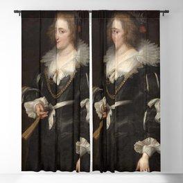Anthony van Dyck - Portrait of Amalia of Solms-Braunfels Blackout Curtain