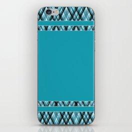 Blue, white ,black ,tartan iPhone Skin