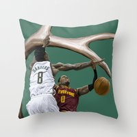 larry Throw Pillows featuring Larry Sanders by Jen Hynds