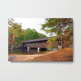 Georgia Stone Mountain Covered Bridge Metal Print