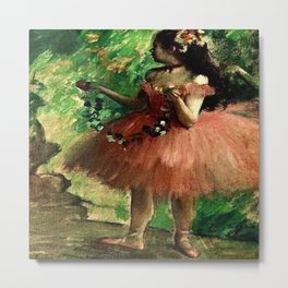 """Rose Dance"" by Edgar Degas (1869) Metal Print"