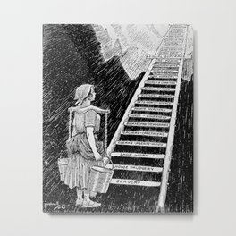 Women's Rights Illustration 1920 - The Sky is Now Her Limit Metal Print