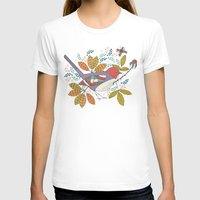 50s T-shirts featuring Bird and Butterfly  by Anna Deegan