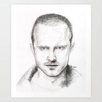 jesse pinkman Art Prints featuring Jesse Pinkman by Tinxiedoodles