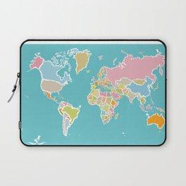 Map Print Laptop Sleeve