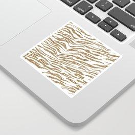 White & Glitter Animal Print Pattern Sticker