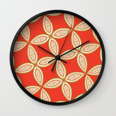 Christmas Tapestry: Red Wall Clock