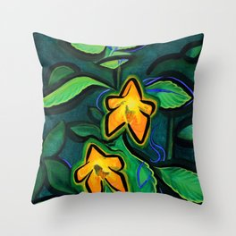 Orange Jewelweed 2.0 Throw Pillow