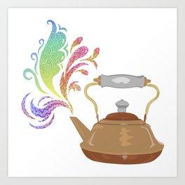 Teapot Tempera Art Print
