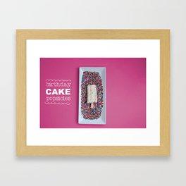 Birthday Cake Popsicle Framed Art Print