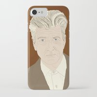 david lynch iPhone & iPod Cases featuring LYNCH by Itxaso Beistegui Illustrations