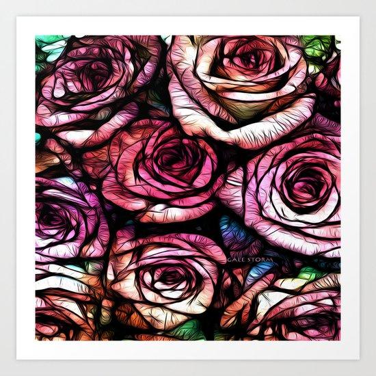 :: Rose Colored :: Art Print