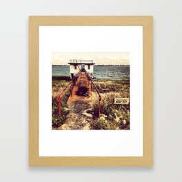 Keep Out Framed Art Print
