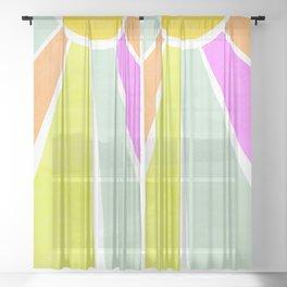 Bright Sunshine Rainbow #positiveart Sheer Curtain