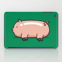 pig iPad Cases featuring Pig by Krisren28