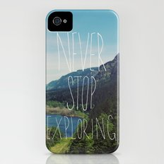 Never Stop Exploring Slim Case iPhone (4, 4s)