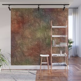 Colorful Earth Tones Brown Blue Abstract Wall Mural
