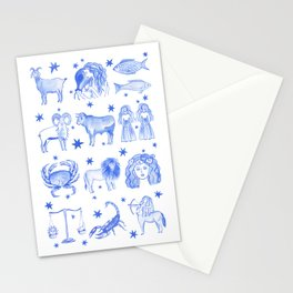 Blue Zodiac Stationery Cards