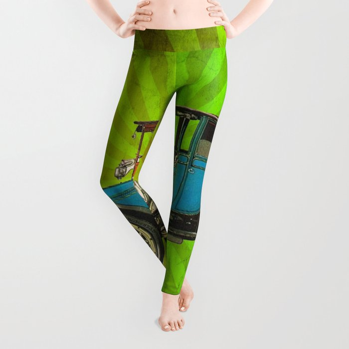 Vintage Car 02 Leggings