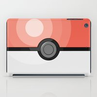 pokeball iPad Cases featuring Pink Pokeball by Amandazzling