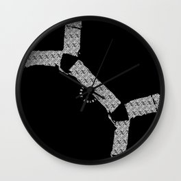 BQ- Bulldog Harness Blk Wall Clock