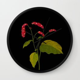 Polygonum Orientale Mary Delany Floral Paper Collage Delicate Vintage Flowers Wall Clock