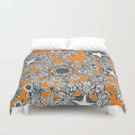 cirque fleur papaya Duvet Cover