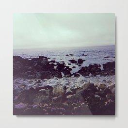 Pebble beach coastline Metal Print