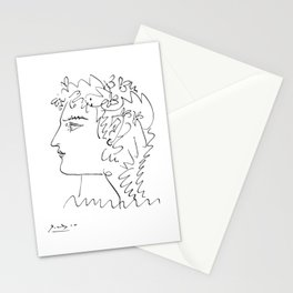 Profil de femme (Woman Side Face) Reproduction Sketch, Pablo Picasso Artwork, tshirt, tee, jersey, p Stationery Cards