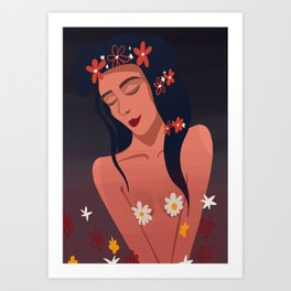 Blossom Queen Art Print