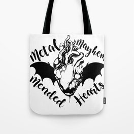 Metal Mayhem and Mended Hearts Tote Bag