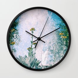 Flowers and Fountains #1 Wall Clock