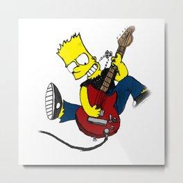 rocksatars simpson guitar Metal Print