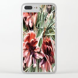 Pine Cones Clear iPhone Case