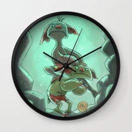 Goblins Drool, Fairies Rule! - Cringe and Cower Wall Clock