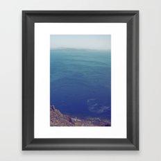 Sea green, ocean blue Framed Art Print