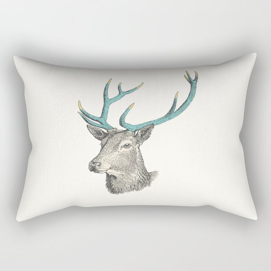 Party Animal - Deer Rectangular Pillow