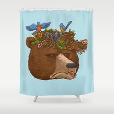 Mr Bear's Nature Hat 2017 Shower Curtain