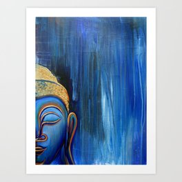 Smiling Buddha in the Rain Art Print