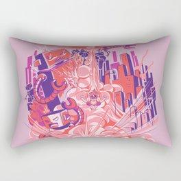 Smash! Zap!! Zooom!! - Big-Boobed Babe Rectangular Pillow